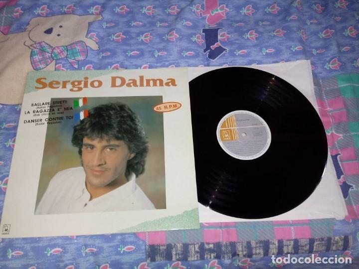 SERGIO DALMA BALLARE STRETTI / DANSER CONTRE TOI ITALIANO FRANCES MAXI SINGLE VINILO EUROVISION 1991 (Música - Discos de Vinilo - Maxi Singles - Festival de Eurovisión)