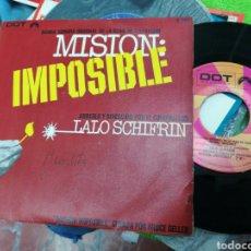 Discos de vinilo: LALO SCHIFRIN SINGLE B.S.O. MISION: IMPOSIBLE ESPAÑA 1968 /2. Lote 146999609