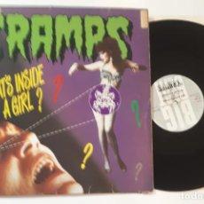 Discos de vinilo: MAXI SINGLE DISCO VINILO THE CRAMPS WHAT'S INSIDE A GIRL ? EDICION INGLESA DE 1986. Lote 143802770