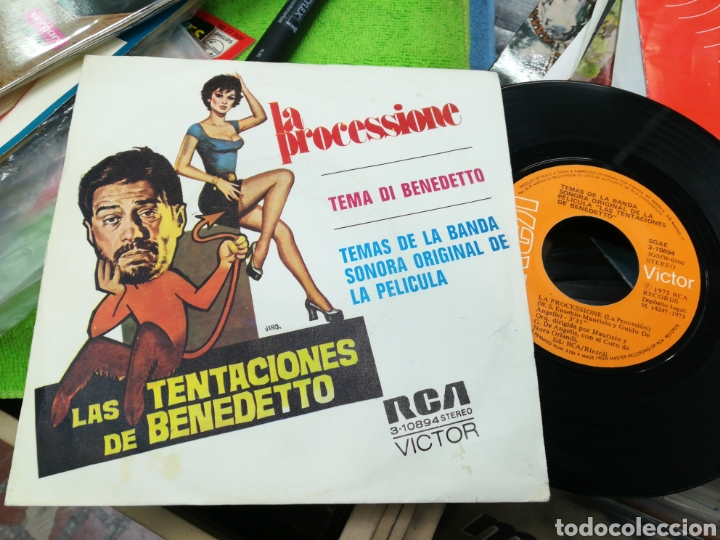 LA PROCESSIONE SINGLE B.S.O. LAS TENTACIONES DE BENEDETTO ESPAÑA 1972 (Música - Discos - Singles Vinilo - Bandas Sonoras y Actores)