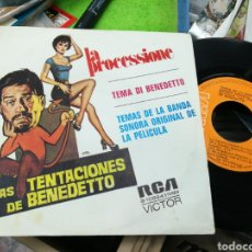 Discos de vinilo: LA PROCESSIONE SINGLE B.S.O. LAS TENTACIONES DE BENEDETTO ESPAÑA 1972. Lote 143811716