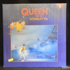 Discos de vinilo: QUEEN - LIVE AT WEMBLEY '86 - 2 LP. Lote 143815506