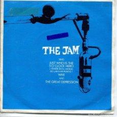 Discos de vinilo: THE JAM / ¿QUIEN ES EL HEROE DE LAS 5 EN PUNTO? / WAR / TGE GREAT DEPRESSION (EP 1982). Lote 143824170