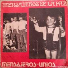 Disques de vinyle: MENSAJEROS DE LA PAZ - MENSAJEROS...UNIOS 1972 ZAFIRO CONTIENE DOS DISCOS. Lote 143827070