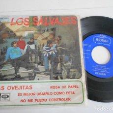 Discos de vinilo: LOS SALVAJES- EP LAS OVEJITAS +3. Lote 143833382