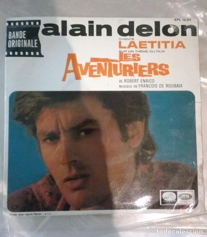 ALAIN DELON / FRANÇOIS DE ROUBAIX – LES AVENTURIERS (Música - Discos de Vinilo - EPs - Bandas Sonoras y Actores)