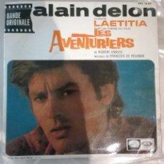 Discos de vinilo: ALAIN DELON / FRANÇOIS DE ROUBAIX – LES AVENTURIERS. Lote 143836698