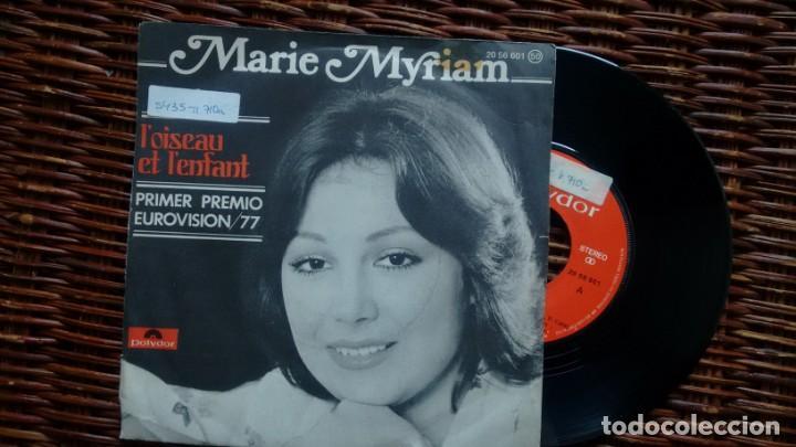 SINGLE (VINILO) DE MARIE MYRIAM AÑOS 70(EUROVISION) (Música - Discos - Singles Vinilo - Festival de Eurovisión)