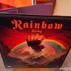 Discos de vinilo: RITCHIE BLACKMORE'S RAINBOW & RISING 2LP GATEFOLD 1978 UK DIO DEEP PURPLE. Lote 180289812
