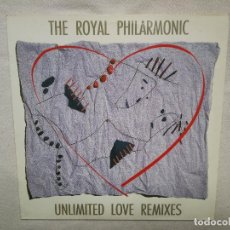 Discos de vinilo: THE ROYAL PHILHARMONIC_UNLIMITED LOVE REMIXES_LUIS COBOS_VINILO MAXI SINGLE_12'' LP 1997_COMO NUEVO!. Lote 143861646