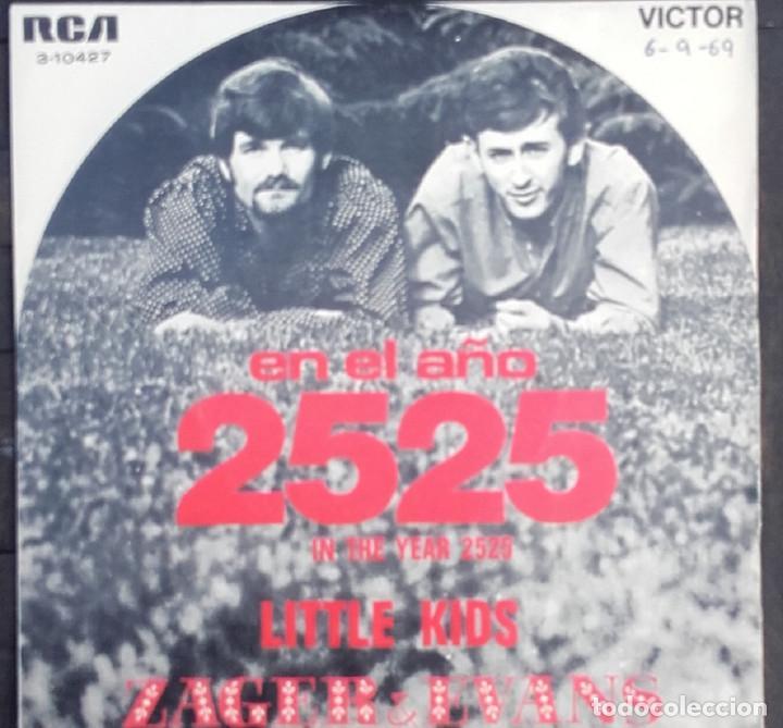 ZAGER & EVANS: EN EL AÑO 2525 (Música - Discos - Singles Vinilo - Pop - Rock Internacional de los 50 y 60)