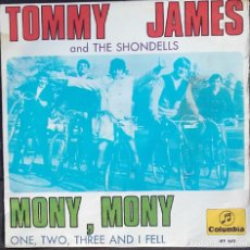 Discos de vinilo: TOMMY JAMES AND THE SHONDELLS: MONY, MONY . Lote 143863110
