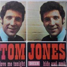 Discos de vinilo: TOM JONES: LOVE ME TONIGHT . Lote 143864094