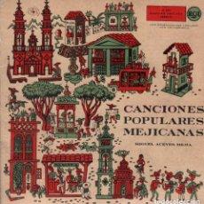 Discos de vinilo: MIGUEL ACEVES MEJIA - MARIACHI VARGAS -CANCIONES POPULARES MEXICANAS / DOBLE SINGLE RCA. Lote 143868182