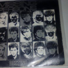 Discos de vinilo: MISSING PERSONS - DESTINATION UNKNOWN (DESTINO DESCONOCIDO) . Lote 143868914
