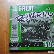 Discos de vinilo: 20 GREAT ROCKABILLY. HITS OF THE 50'S. LP . Lote 143870182