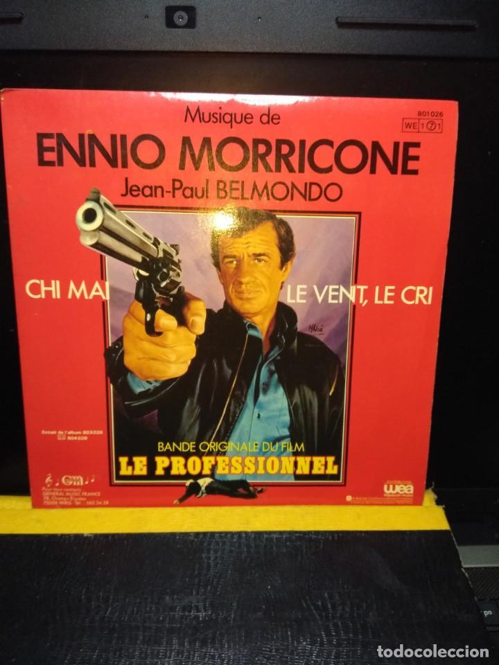 SG BSO LE PROFESSIONEL ( JEAN-PAUL BELMONDO) MUSICA DE ENNIO MORRICONE (Música - Discos - Singles Vinilo - Bandas Sonoras y Actores)