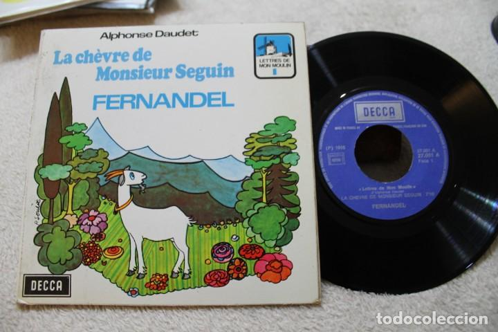 LA CHEVRE DE MONSIEUR SEGUIN FERNANDEL A. DAUDET CUENTO INFANTIL EN FRANCES SINGLE (Música - Discos - Singles Vinilo - Música Infantil)