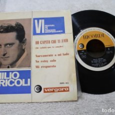 Discos de vinilo: EMILIO PERICOLI HO CAPITO CHE TI AMO VI FESTIVAL DE LA CANCION MEDITERRANIA EP 1964. Lote 143886302