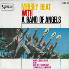 Discos de vinilo: MERSEY BEAT A BAND OF ANGELS EP 1964 GARAGE BEAT ROCK. Lote 143891374