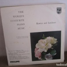Discos de vinilo: MUSIC PIANO RAWICS AND LANDAUER PHILIPS COLOMBIA LP K7 VG. Lote 143893186