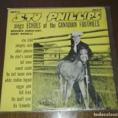 Discos de vinilo: STU PHILLIPS SINGS ECHOES OF THE CANADIAN FOOTHILLS LP MONO. Lote 143893202