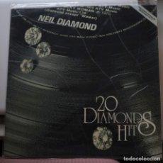 Discos de vinilo: NEIL DIAMOND - 20 DIAMOND HITS - LP . Lote 143893730