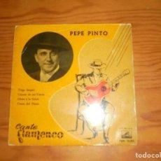 Discos de vinilo: CANTE FLAMENCO : PEPE PINTO. TRIGO LIMPIO + 3. EP. LA VOZ DE SU AMO, 1959 (#). Lote 143899174
