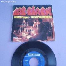 Discos de vinilo: SINGLE. LOS SIREX - FIRE/ YO SOY TREMENDO. AÑO 1968 . VERGARA 45.270 - A. RARE SPANISH GARAGE BEAT. Lote 143899342