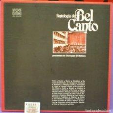 Discos de vinilo: ANTOLOGÍA DEL BEL CANTO - GIUSEPPE DI STEFANO - BOX SET 5 LPS + LIBRETO DE 23 PÁGINAS BALKANTON. Lote 143903630