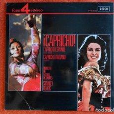 Discos de vinilo: CAPRICHO ESPAÑOL CAPRICHO ITALIANO ORQUESTA DEL FESTIVAL DE LONDRES. Lote 143903638