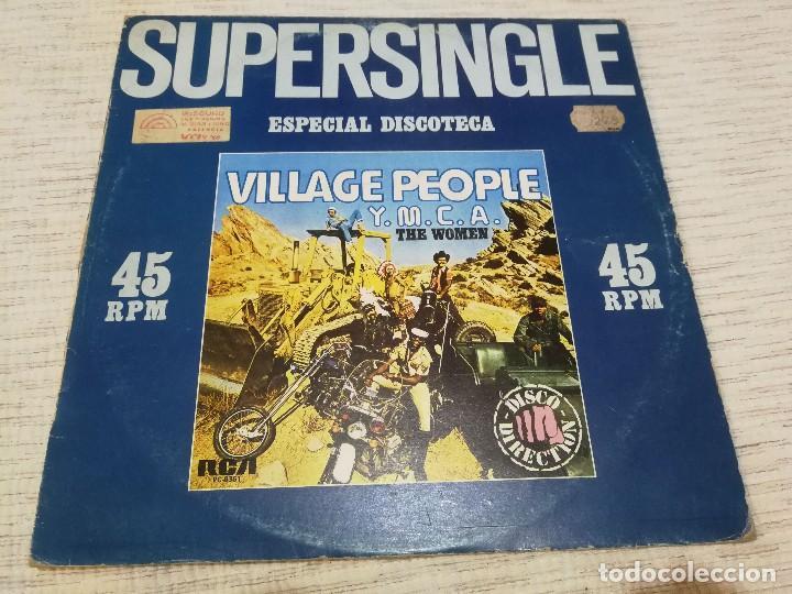VILLAGE PEOPLE_Y.M.C.A. / THE WOMEN_VINILO MAXI SINGLE 12''_EDICIÓN ESPAÑOLA_1979 (Música - Discos de Vinilo - Maxi Singles - Pop - Rock Extranjero de los 70)
