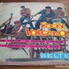 Discos de vinilo: ROCKY VOLCANO - CHRISTOPHER COLUMBUS TWIST + 3 *********** RARO EP BELTER 1962 ROCK FRANCÉS. Lote 143917666