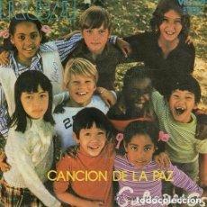 Disques de vinyle: INFANTILES - GARABATOS / CANCION DE LA PAZ / LAS VACACIONES COMIENZAN (SINGLE DE 1971). Lote 143920474