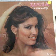 Discos de vinilo: LP LUCIA-POR ESTAR CONTIGO. Lote 143923742