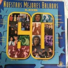 Disques de vinyle: LP DOBLE-NUESTRAS MEJORES BALADAS-VARIOS. Lote 143926802