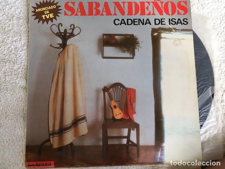 LP LOS SABANDEÑOS-CADENA DE ISAS (Música - Discos - LP Vinilo - Grupos Españoles 50 y 60)
