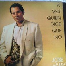 Discos de vinilo: LP JOSE VELEZ-A VER QUIEN DICE QUE NO. Lote 143932386