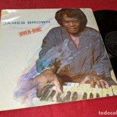 Discos de vinilo: JAMES BROWN LOVE OVER-DUE LP 1991 SCOTTI BROS ESPAÑA SPAIN. Lote 143938646