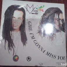 Discos de vinilo: MILLI VANILLI-GIRL,I'M GONNA MISS YOU.MAXI. Lote 143940966