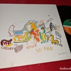 Discos de vinilo: CROSBY, STILLS, NASH & YOUNG SO FAR LP ATLANTIC ALEMANIA GERMANY. Lote 143943078