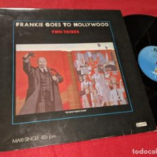 Discos de vinilo: FRANKIE GOES TO HOLLYWOOD TWO TRIBES LP 1984 ISLAND ESPAÑA SPAIN. Lote 143943358
