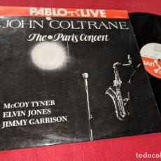 Discos de vinilo: JOHN COLTRANE THE PARIS CONCERT LP 1983 PABLO LIVE ESPAÑA SPAIN. Lote 143943466
