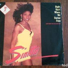 Discos de vinilo: SINITTA-RIGHT BACK WHERE WE STARTED FROM.MAXI. Lote 143987978