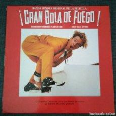 Discos de vinilo: GREAT BALLS OF FIRE GRAN BOLA DE FUEGO ( 1989 POLYDOR ESPAÑA ) JERRY LEE LEWIS JACKIE BRENSTON. Lote 143878950