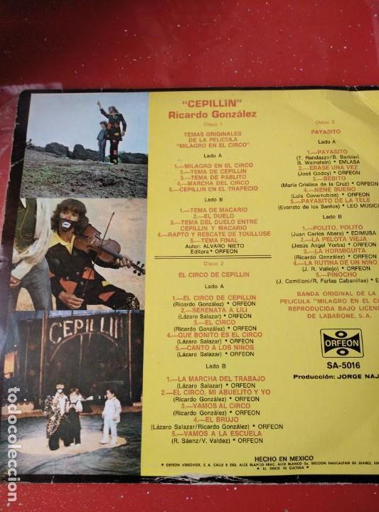 Discos de vinilo: ALBUM DE 3 LP,S. EL CIRCO DE CEPELLIN -MUY RARO- - Foto 3 - 144005834