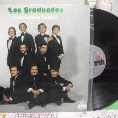 Discos de vinilo: GRADUADOS, LOS & GUSTAVO QUINTERO ( LP ARIOLA, 1974 ) BALLENATO PASITO SALSA COLOMBIANA PEPETO. Lote 144022058