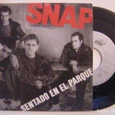 Discos de vinilo: SNAP - SENTADO EN EL PARQUE / TODOS LOS CHICOS - SINGLE 1990 - ARIOLA. Lote 144027934