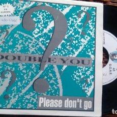 Discos de vinilo: SINGLE (VINILO)-PROMOCION- DE DOUBLE YOU AÑOS 90. Lote 144033422