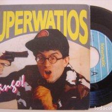 Discos de vinilo: SUPERWATIOS - BINGO / ATASCO - SINGLE 1991 - FONOMUSIC. Lote 144035414